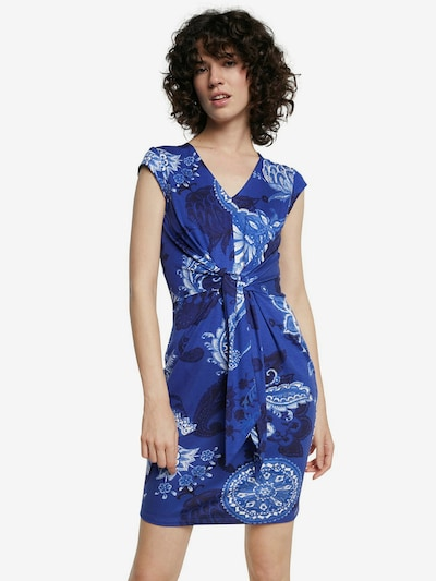 Desigual Kleid 'SIBILA' in blau / navy / weiß, Modelansicht