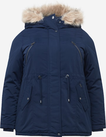 Vero Moda Curve Winter Parka 'AGNES BEATE' in Blue
