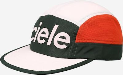 CIELE ATHLETICS Athletic Cap in Dark green / Dark orange / White, Item view