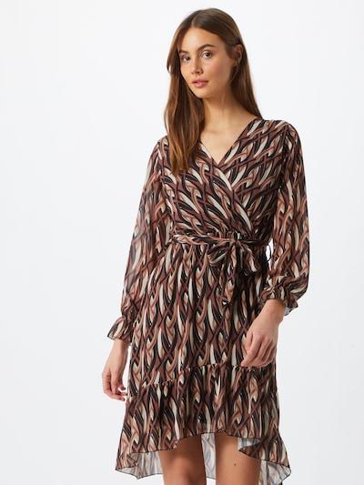 ZABAIONE Robe 'Kylie' en beige / marron / cuivre / noir, Vue avec modèle