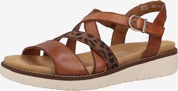 REMONTE Sandale in Braun