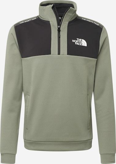 THE NORTH FACE Sportsweatshirt in khaki / schwarz / weiß, Produktansicht