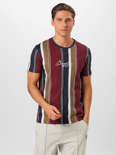 Marškinėliai iš BURTON MENSWEAR LONDON , spalva - nebalintos drobės spalva / kobalto mėlyna / burgundiško vyno spalva / balta: Vaizdas iš priekio