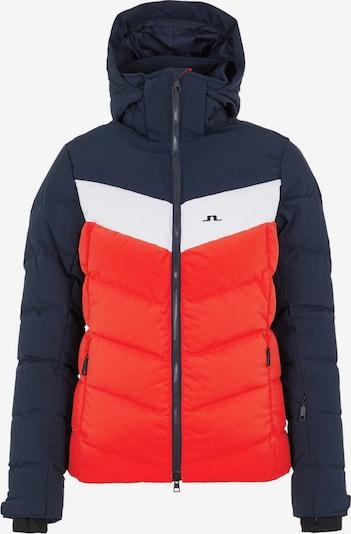 J.Lindeberg Sportjas in de kleur Knalrood / Zwart / Wit, Productweergave