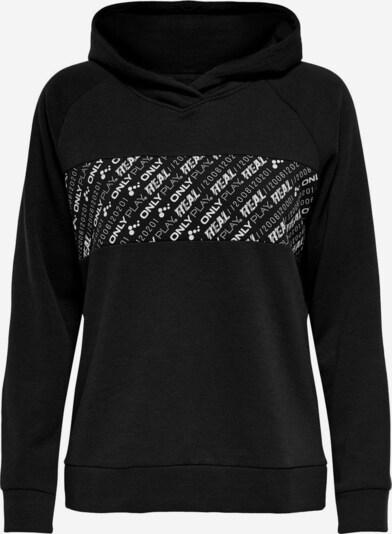 ONLY PLAY Sportsweatshirt in schwarz / weiß, Produktansicht