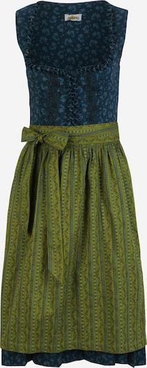 ALMSACH Dirndl en bleu / bleu clair / bleu foncé / vert clair / lilas, Vue avec produit