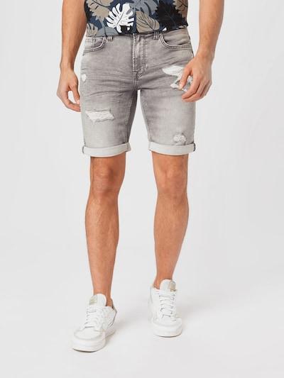 Only & Sons Jeans in de kleur Grey denim, Modelweergave
