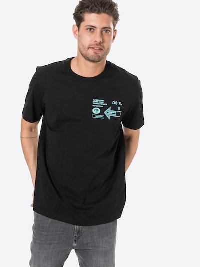 DIESEL Тениска 'JUST' в нефритено зелено / черно, Преглед на модела