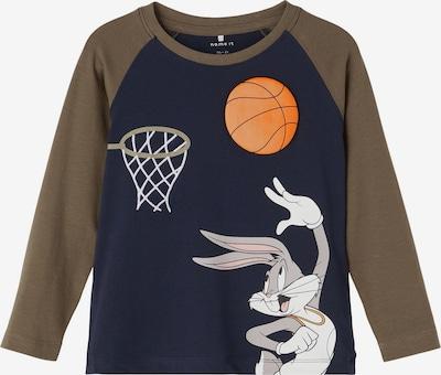 NAME IT Shirt 'Space Jam' in Sapphire / Grey / Khaki / Orange / White, Item view
