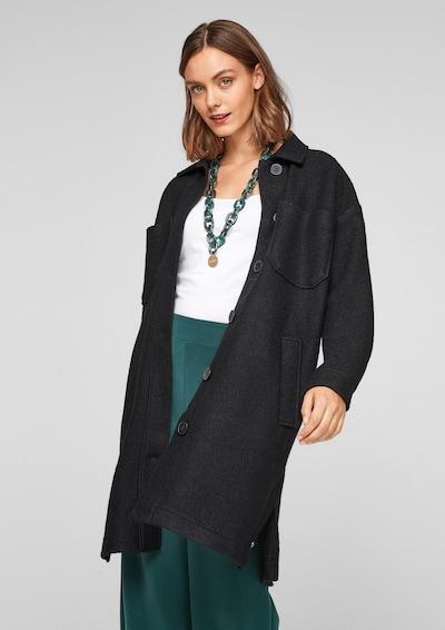 s.Oliver Between-Seasons Coat in Black, View model