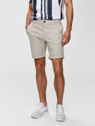 SELECTED HOMME Pantalon en crème, Vue avec modèle