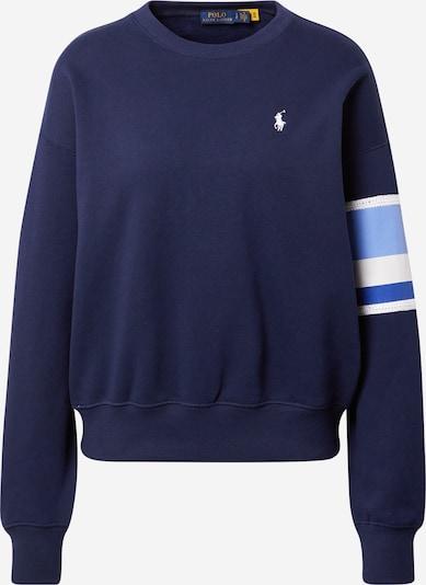 POLO RALPH LAUREN Sweat-shirt en bleu / bleu marine / bleu clair / blanc, Vue avec produit
