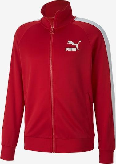 PUMA Trainingsjacke 'Iconic T7' in rot / weiß, Produktansicht
