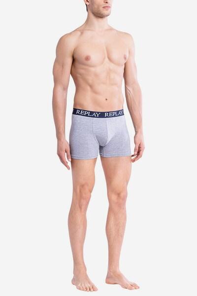 REPLAY Trunks in dunkelblau / grau, Modelansicht