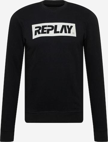 REPLAYSweater majica - crna boja