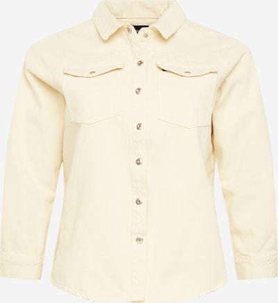 PIECES (Curve) Blus 'Gray' i gul, Produktvy