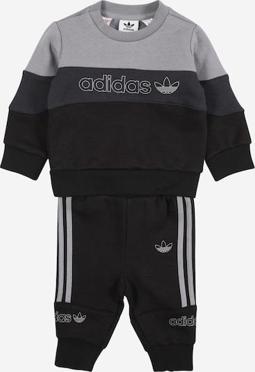 ADIDAS ORIGINALS Anzug in grau / schwarz, Produktansicht