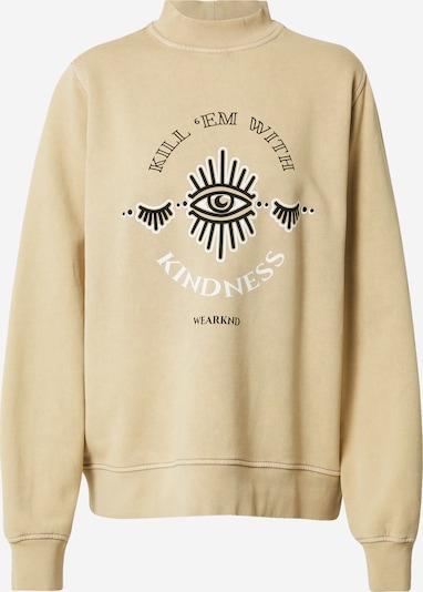 WEARKND Sweatshirt in light beige / black / white, Item view
