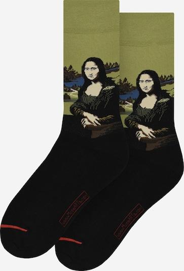 MuseARTa Sokken ' Mona Lisa ' in de kleur Blauw / Groen / Zwart, Productweergave