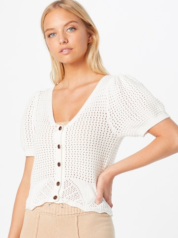Q/S by s.Oliver Knit Cardigan in White
