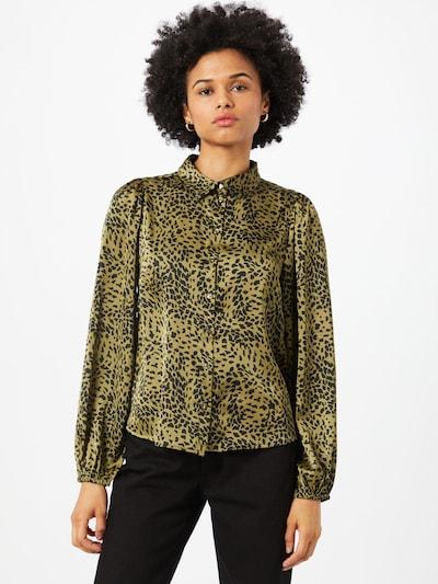 PIECES Bluse 'Danni' in gold / schwarz, Modelansicht