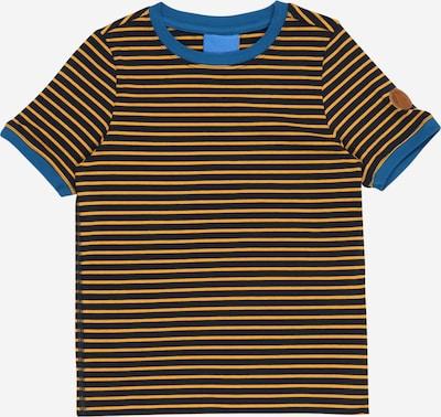 FINKID T-Shirt 'RENKAAT' en bleu / bleu marine / jaune d'or, Vue avec produit
