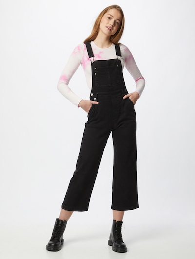 Pepe Jeans Dungaree jeans 'SHAY' in Black denim, View model