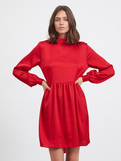 VILA Shirt Dress 'Olinea' in Red, View model