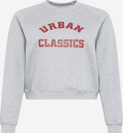 Urban Classics Curvy Sweatshirt in de kleur Grijs / Wijnrood, Productweergave
