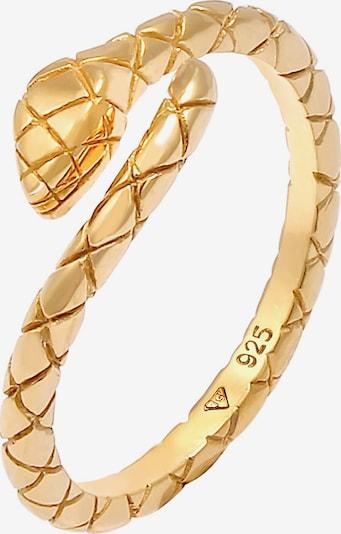 ELLI Ring Schlange in gold, Produktansicht