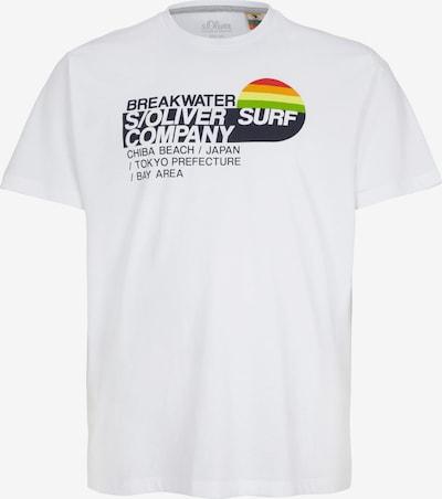 s.Oliver Men Big Sizes T-Shirt in mischfarben / weiß, Produktansicht