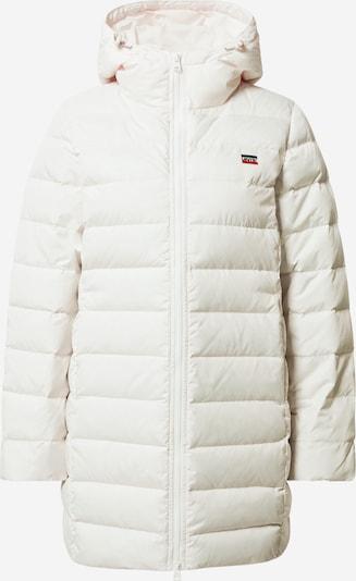 LEVI'S Core Down Mid Length Puffer Daunenjacke in weiß, Produktansicht