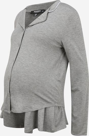 Missguided Maternity Pyjama in graumeliert / weiß, Produktansicht