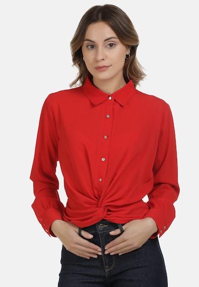 DreiMaster Maritim Bluse in rot, Modelansicht