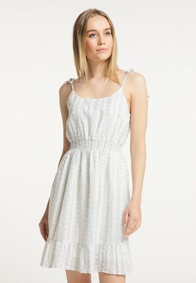 DreiMaster Vintage Sommerkleid in blau / weiß, Modelansicht