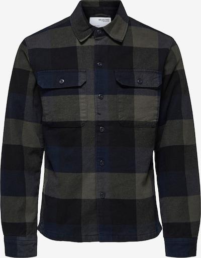 SELECTED HOMME Overhemd 'Reed' in de kleur Marine / Taupe / Zwart, Productweergave