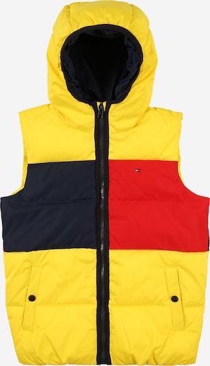 TOMMY HILFIGER Weste in navy / gelb / rot, Produktansicht