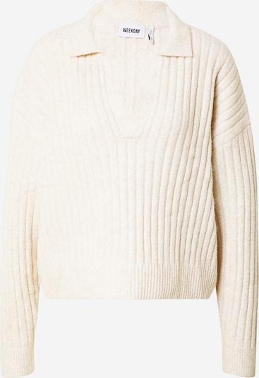 WEEKDAY Sweatshirt 'Husky Sweater' in beige, Produktansicht