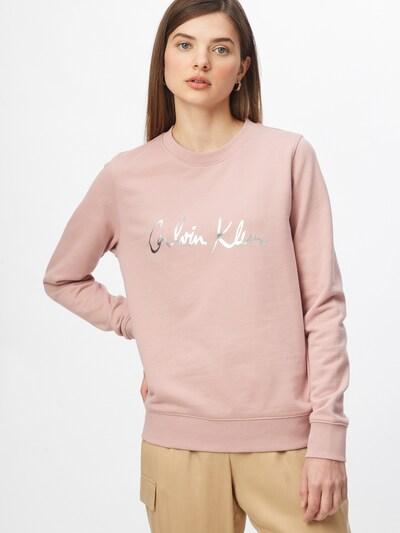 Calvin Klein Sweatshirt in rosa / silber: Frontalansicht