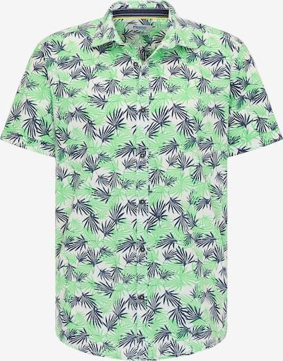 PIONEER Hemd in taubenblau / grün / weiß, Produktansicht