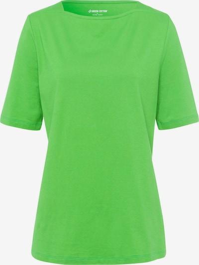 Green Cotton T-Shirt mit U-Boot-Ausschnitt in grün, Produktansicht