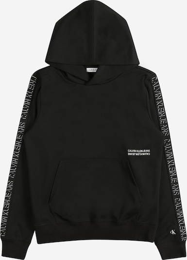 Calvin Klein Jeans Sweater majica 'SHADOW' u crna / bijela, Pregled proizvoda