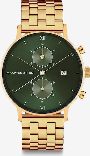 Kapten & Son Analog Watch in Gold / Dark green / White, Item view