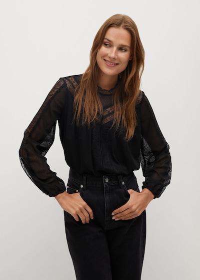 MANGO Bluse 'Bismark' in schwarz, Modelansicht
