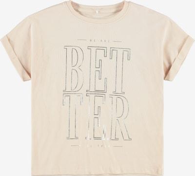 NAME IT Shirt 'Bisan' in puder / silber, Produktansicht
