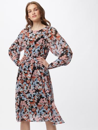MOSS COPENHAGEN Kleid 'Ammalie' in azur / rosa / rostrot / schwarz, Modelansicht