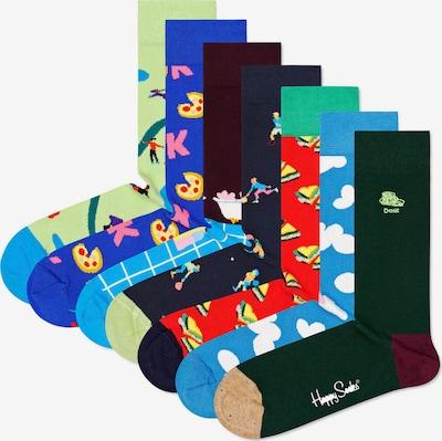 Happy Socks Chaussettes en bleu roi / bleu clair / vert clair / vert foncé / mélange de couleurs / rouge, Vue avec produit