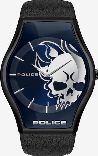 POLICE Uhr in dunkelblau / schwarz / weiß, Produktansicht
