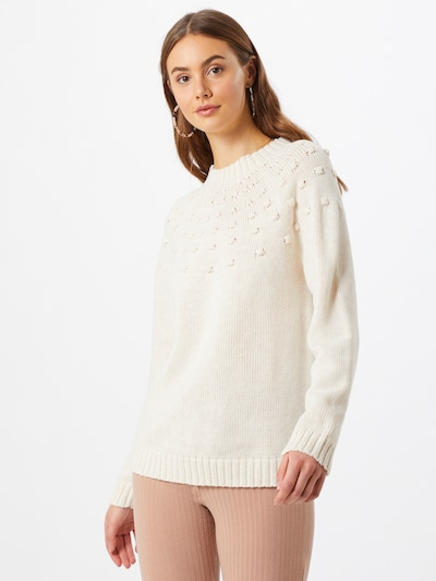 Megztinis 'OKTAVI' iš VILA , spalva - natūrali balta, Modelio vaizdas