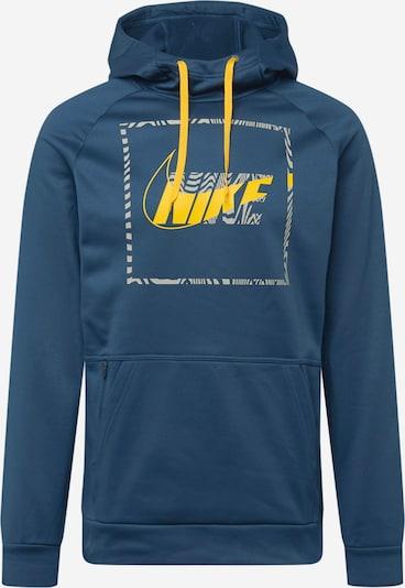 NIKE Sportovní mikina - tmavě modrá / žlutá, Produkt